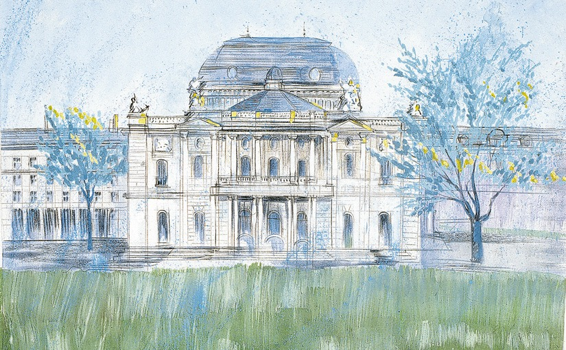"""Wandbild von Heinz Blum """"Opernhaus"""""""