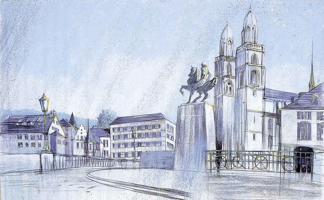 """Wandbild von Heinz Blum """"Roemergasse"""""""