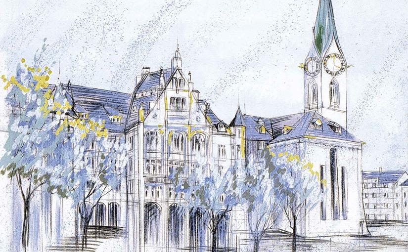 """Wandbild von Heinz Blum """"Stadthausquai"""""""