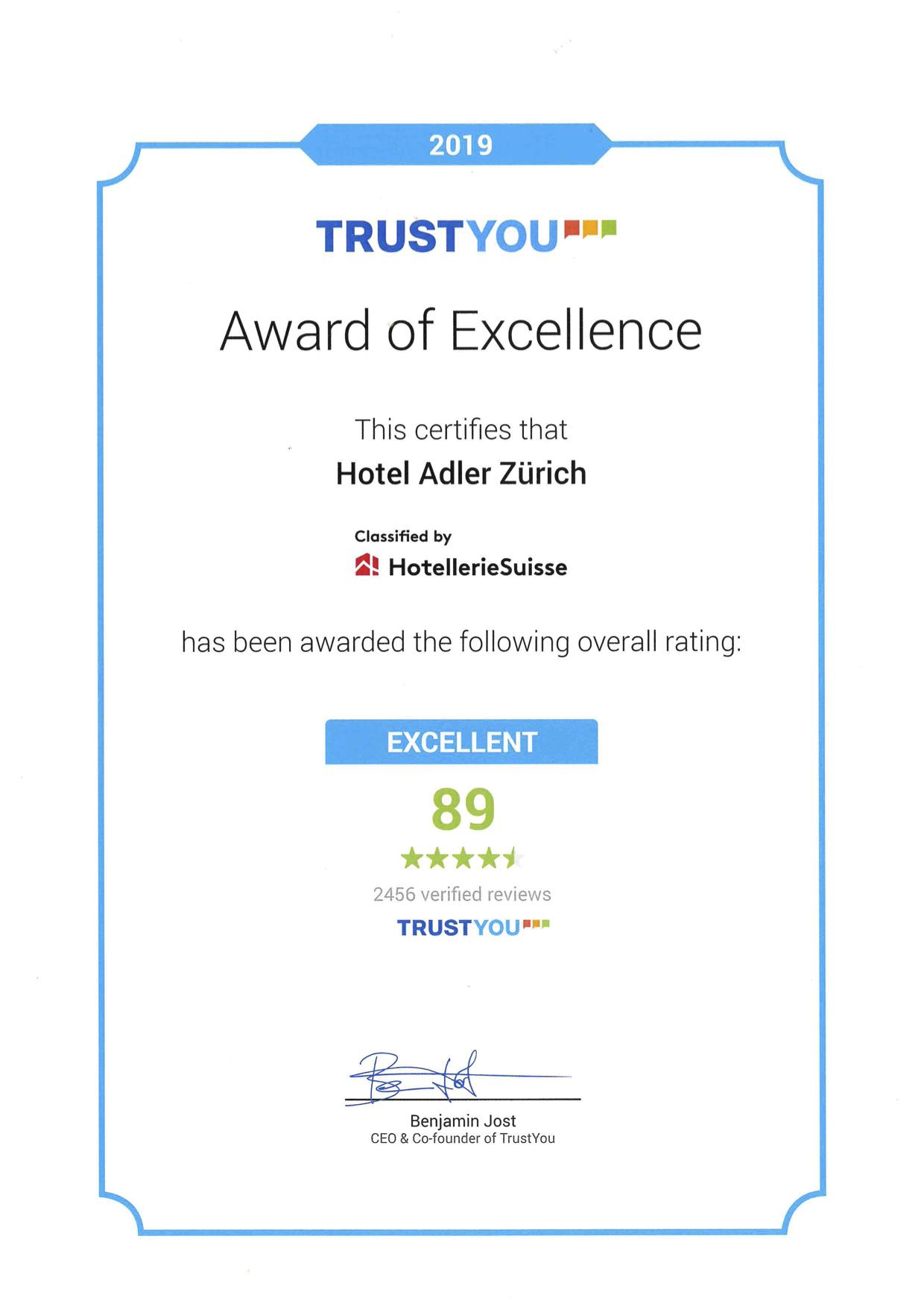 TrustYou Certificate