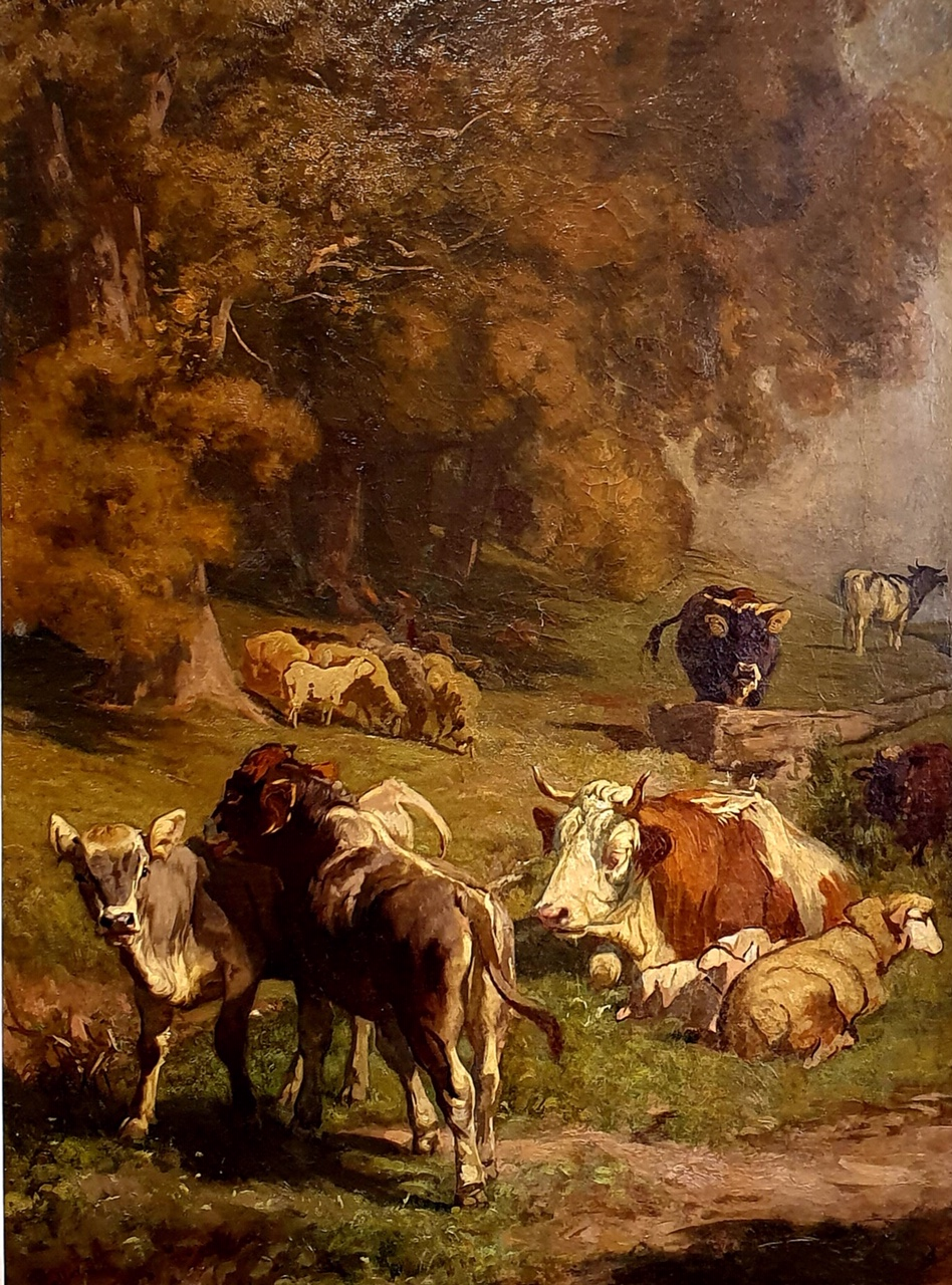 Rudolf Koller Gemälde Kuh